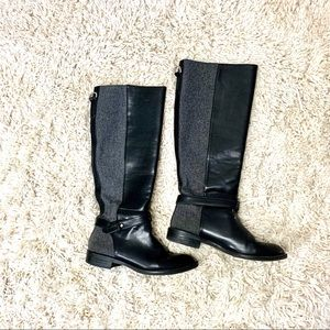 HOST PICK🌟Zara black and gray riding boots sz.6.5
